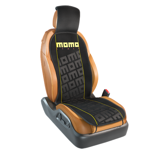 Накидка на сиденье Commando MOMO-102 BK/YE