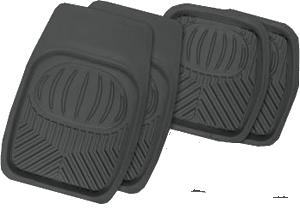 Коврики резиновые с бортиками. POLAR. Черные. TER-105 BK