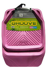 Коврики резиновые с бортиками.  GROOVE. Розовые. TER-150 PINK