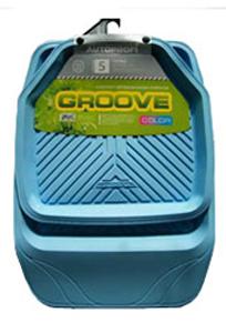 Коврики резиновые с бортиками.  GROOVE. Синие.  TER-150 SKY