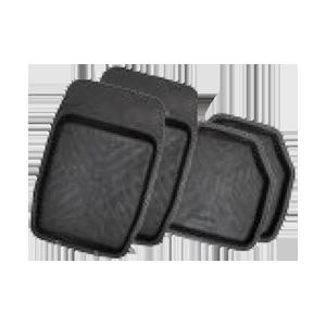 Коврики резиновые с бортиками.  GROOVE. Черные.  TER-150 BK