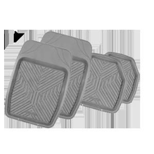 Коврики резиновые с бортиками.  GROOVE. Серые.  TER-150 GY