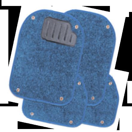 Вкладыши ковролиновые для ковриков TER-500i синие  PET-500i BL
