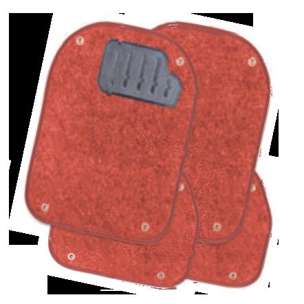 Вкладыши ковролиновые  для ковриков TER-500i  красные  PET-500i RD