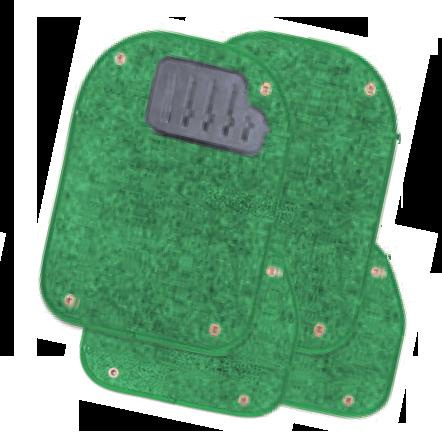Вкладыши ковролиновые  для ковриков TER-500i  зелёные  PET-500i GR