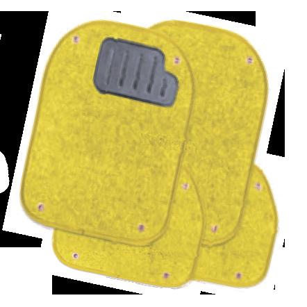 Вкладыши ковролиновые для ковриков TER-500i жёлтые  PET-500i YE