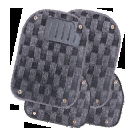 Вкладыши ковролиновые для ковриков TER-500i тёмно-серая шахматка  PET-500i D.GY/CHESS