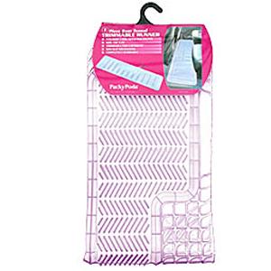 Комплект задних ковриков, ПВХ, прозрачные, «Trimmable Ranner»  арт. 6407 CL
