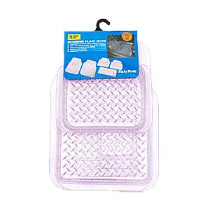 Комплект ковриков в салон автомобиля «Diamond Plate Mats», прозрачные, 5 шт., ПВХ,  6975 CL