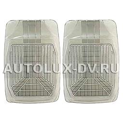 Комплект передних ковриков, дымчатые, ПВХ,  «PackyPoda»  арт. 5533 F SM