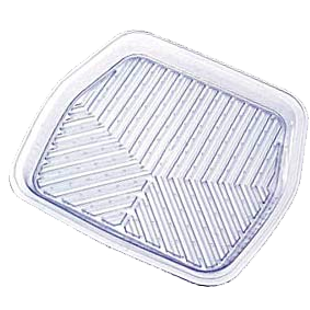 Коврик виниловый задний (прозрачный), ПВХ,   «Skeleton» арт. 6344-08 CL