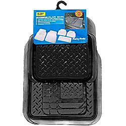 Комплект ковриков 5 шт., синтетическая резина, «Diamond Plate Mats» черный арт. 6975 BK