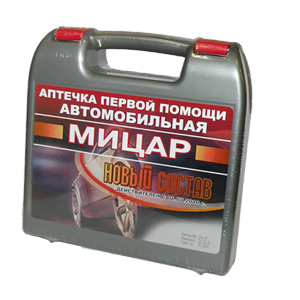 Аптечка автомобильная нового образца Мицар Футляр № 01