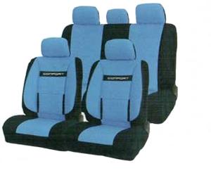 Чехлы COMFORT. Синие с черным. COM-1105 BK/BL