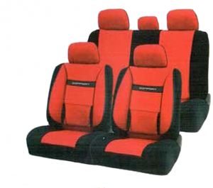 Чехлы COMFORT. Красные с черным. COM-1105 BK/RD