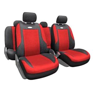 Чехлы EVOLUTION. Красные с черным. EVO-1105 BK/RD
