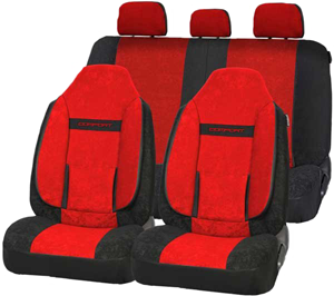 Чехлы  COMFORT. Красные с черным.  COM-1105H  BK/RD