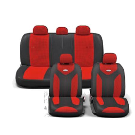 MATRIX чехлы в салон. Черный с красным. MTX-1105 BK/RD (M)