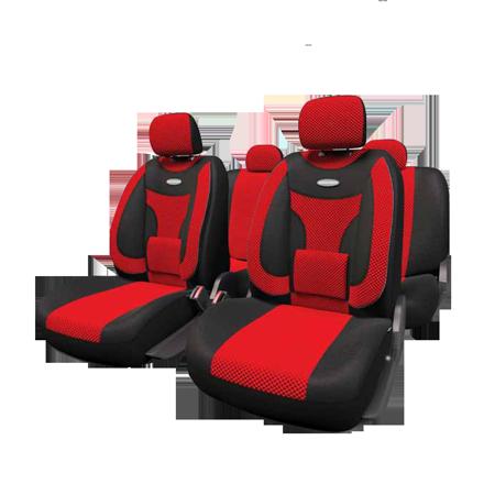 ExtraComfort  Чехлы черные/красные. ECO-1105 BK/RD