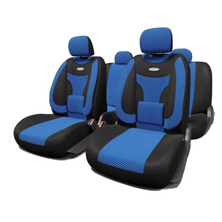ExtraComfort  Чехлы черные/синие. ECO-1105 BK/BL