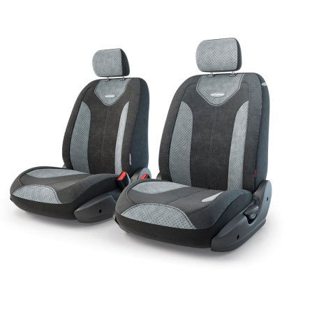 Авточехлы Трансформеры MATRIX, велюр,  AIRBAG,  передний ряд, чёрн./т.серый.  TRS/MTX-001 BK/D.GY