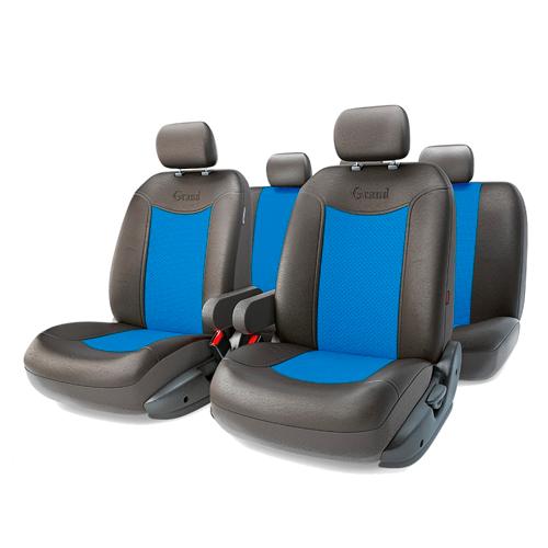 Чехлы GRAND FULL, экокожа,  AIRBAG, чёрн./синий.  GND-1305GF BK/BL
