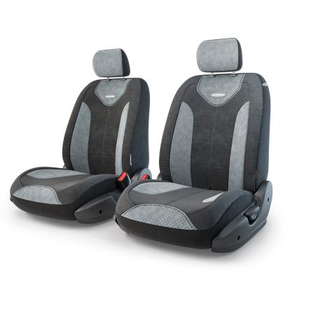 Авточехлы Трансформеры MATRIX, экокожа,  AIRBAG,  передний ряд, чёрн./т.серый.  TRS/MTX-001G BK/D.GY