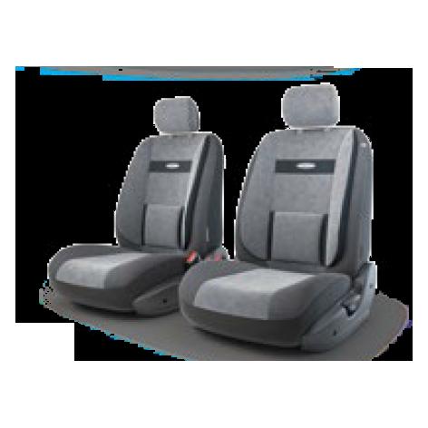 Авточехлы Трансформеры COMFORT, велюр, AIRBAG,  передний ряд, чёрн./т.серый.  TRS/COM-001 BK/D.GY