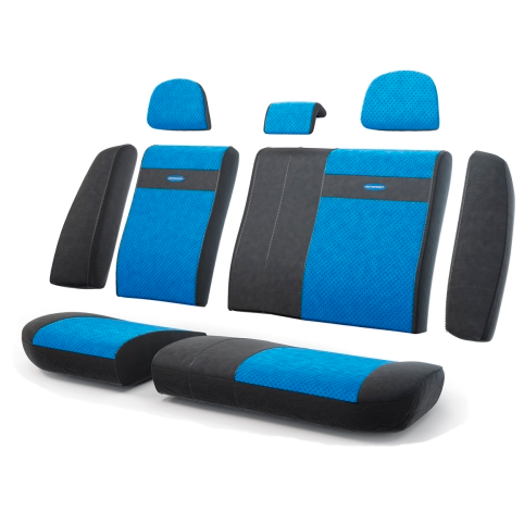 Чехлы Трансформеры , эко кожа,  задний ряд, чёрн./синий.  TRS-002G BK/BL