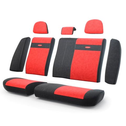 Чехлы в автомобиль Трансформеры , эко кожа,  задний ряд, чёрн./красный.  TRS-002G BK/RD