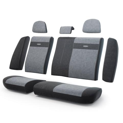 Авточехлы Трансформеры , эко кожа, задний ряд, чёрн./т.серый.  TRS-002G BK/D.GY