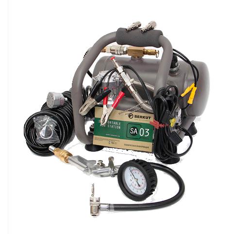 BERKUT NEW Автомобильный компрессор  SA03 с рессивером 2,85л