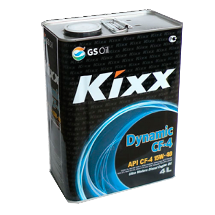 KIXX DYNAMIC CF-4/SG 15W40, масло моторное, полусинтетика,  4л/4