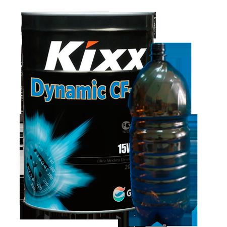 KIXX DYNAMIC CF-4/SG 15W40, масло моторное, полусинтетика,  5л бутылка ПЭТ