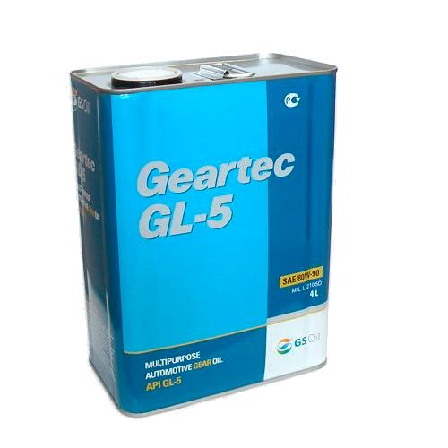 KIXX GEARTEC GL-5 80W90, трансмиссионное,  4л/4