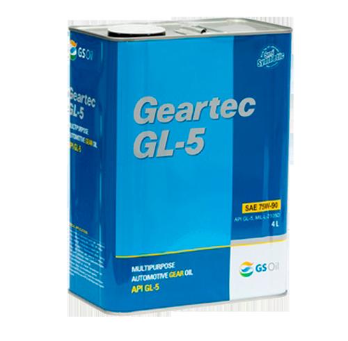 KIXX GEARTEC GL-5 75W90 SINTHETIC BASE, трансмиссионное,  4л/4