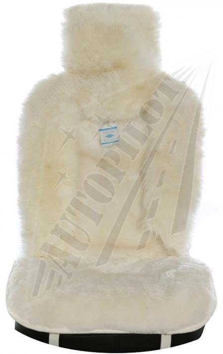 Комплект накидок на весь салон, овчина, Комбинированный ворс, 5 шт, белый