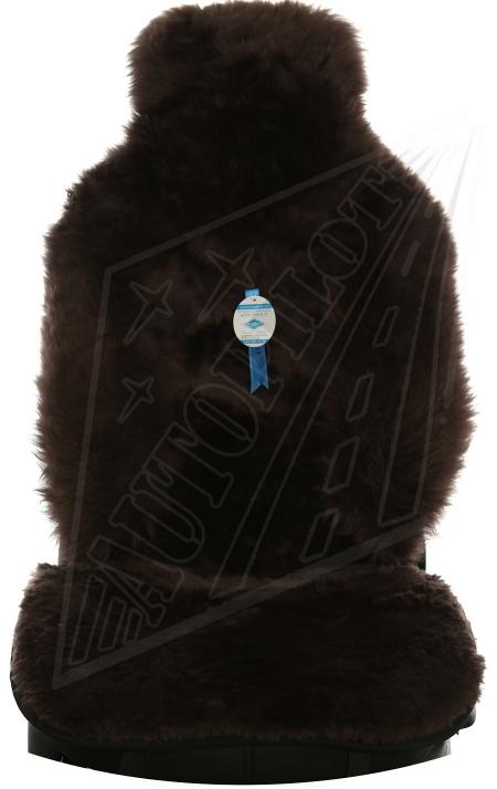 Комплект накидок на весь салон, овчина, Комбинированный ворс, 5 шт, черный