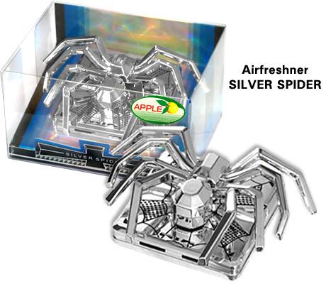Ароматизатор воздуха Silver Паук KA205-03  SPIDER APPLE
