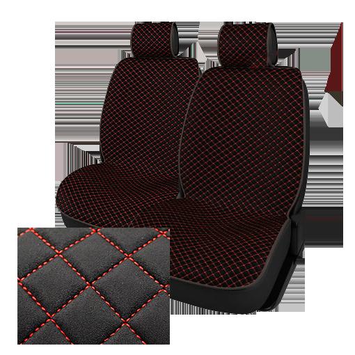 Комплект из 2-х автомобильных накидок NK88-42 BK/BK «Luxury Замша»