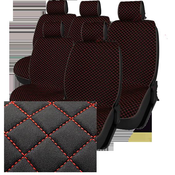 Полный комплект автомобильных накидок NK88-45 BK/BK «Luxury Замша»