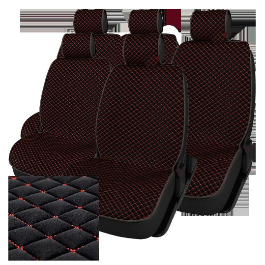 Комплект автомобильных накидок NK88-15 BK/BK «Luxury Лайкра»