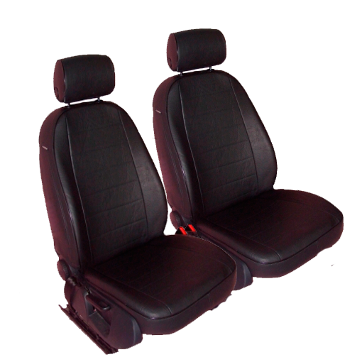 Чехлы для Ford C-MAX, черная кожа аригон