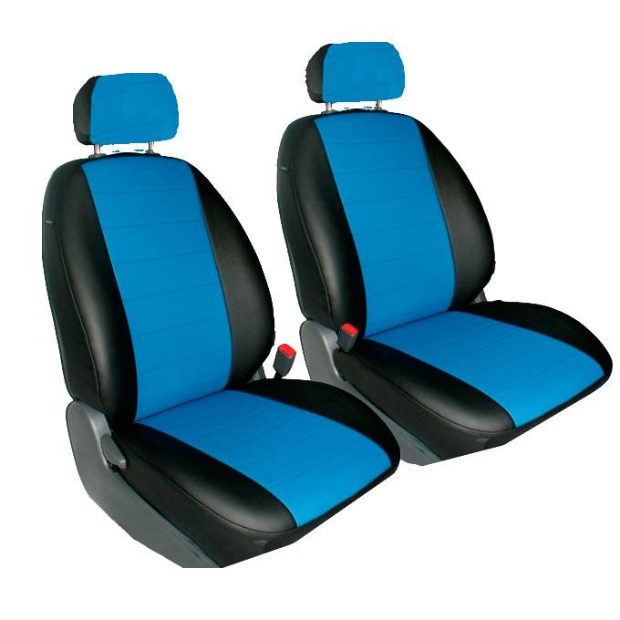 Чехлы для Mazda  3 c 2004-2010, черная и синяя кожа аригон