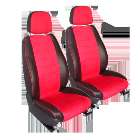 Чехлы для Hyundai Solaris спинка цел., черная и бордовый кожа аригон