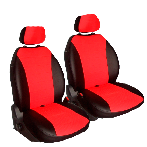 Чехлы для Mazda  3 II хетчбэк c 2010, черная и красная кожа аригон
