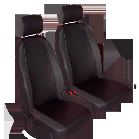 Чехлы для Volkswagen T-5 3 мест, темно серая и черная кожа аригон