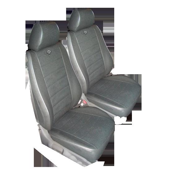 Чехлы для Ford C-MAX, темно серая кожа аригон