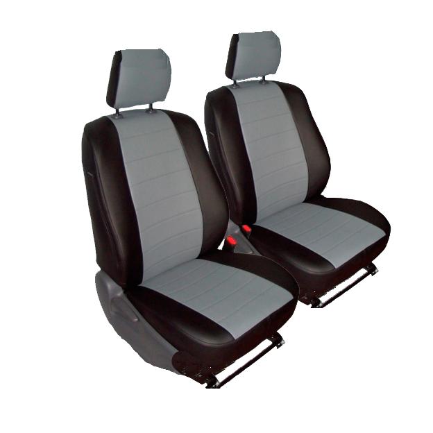 Чехлы для Volkswagen T-5 3 мест, серая и черная кожа аригон