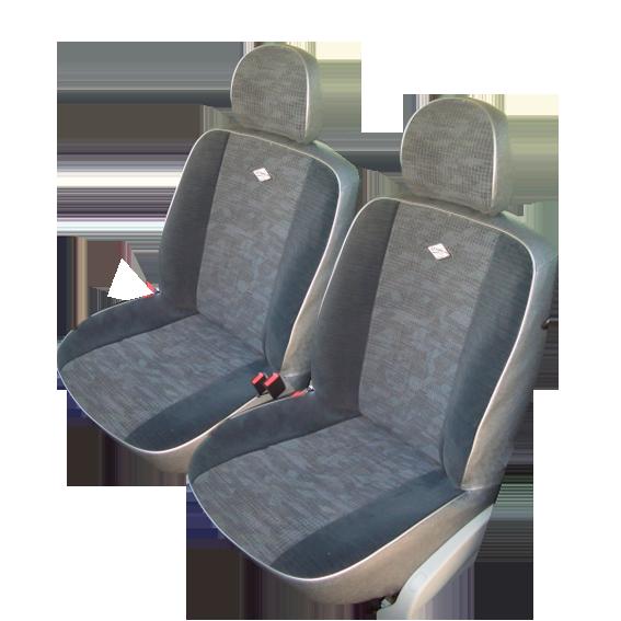 Чехлы для Volkswagen T-4 8 мест, жаккард серый